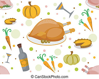 Thanksgiving Seamless Background