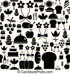 thanksgiving seamless pattern background icon.
