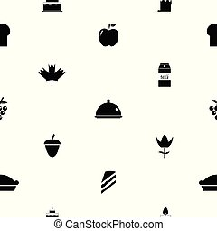 thanksgiving seamless pattern background icon.