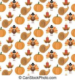 Thanksgiving seamless pattern