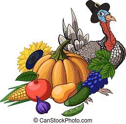 Thanksgiving still life - Thanksgiving Day holiday still ...