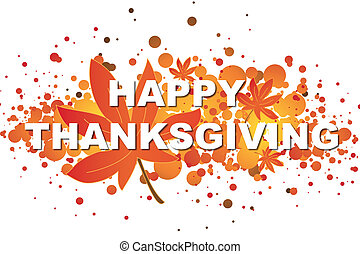 thanksgiving - Illustration of thanksgiving card with...