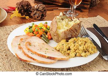 thanksgiving türkei, abendessen