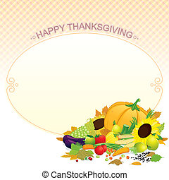 Thanksgiving Template Vector