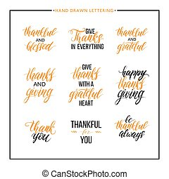 Thanksgiving text set