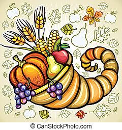 Thanksgiving theme: Harvest cornucopia