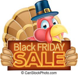 Thanksgiving Turkey Black Friday Sale Sign