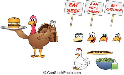 Thanksgiving Turkey Cartoon Character