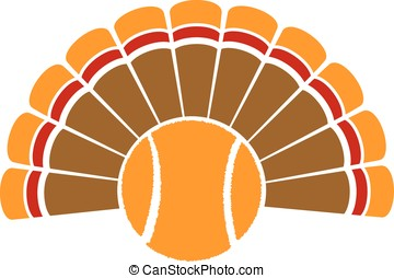 Thanksgiving Turkey Tennis - A Thanksgiving turkey tail with...