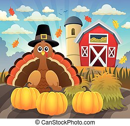 Thanksgiving turkey topic image 2 - eps10 vector...