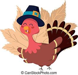 Thanksgiving Turkey - Turkey wearing a pilgrim hat for...