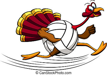 Thanksgiving turkey basketball. Illustration of a turkey ...