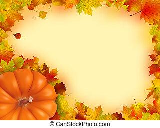 thanksgiving, vacances, frame.
