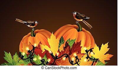 Thanksgiving vector autumn composition