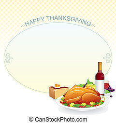 Illustration with Roast Turkey