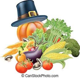 Thanksgiving vegatables illustratio