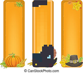 Thanksgiving vertical banners
