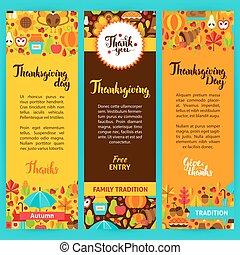 Thanksgiving Vertical Flyers