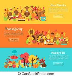 Thanksgiving Web Horizontal Banners