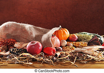 Thanksgiving with jute bag