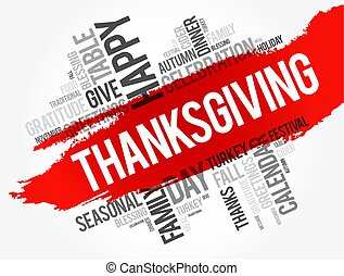 Thanksgiving word cloud collage