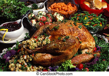 thanksgiving/christmas/holiday, abendessen