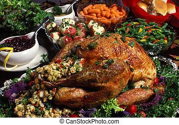 thanksgiving/christmas/holiday, vacsora