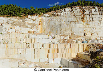 thassos, 白, 採石場, 大理石