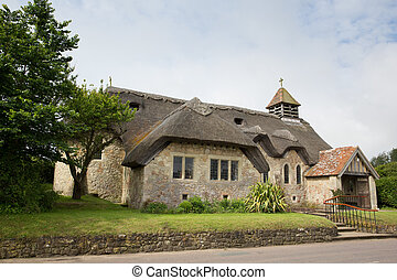Thatched church Isle of Wight