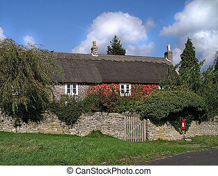 Thatched cottage in England