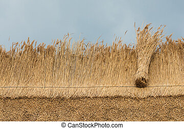 thatched dak, met, stro