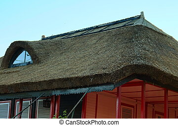 Thatched house in The Danube Delta