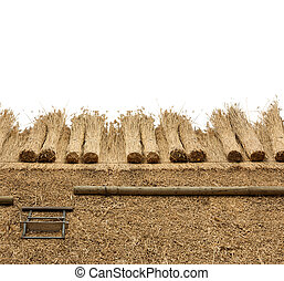 Thatched Roof on white background
