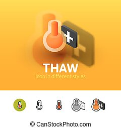 Thaw icon in different style - Thaw color icon, vector ...