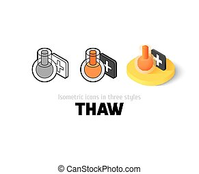 Thaw icon in different style - Thaw icon, vector symbol in ...