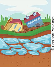 Thaw Permafrost Illustration - Illustration of Thawing ...