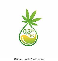 THC and cannabis oil vector, cbd oil vector