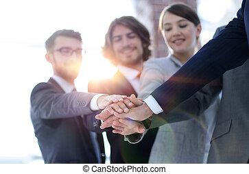 .the, ビジネス, チームワーク, 創造的, チーム, 概念