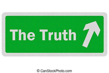 'the, 印, 写真, 隔離された, 現実的, truth', 白