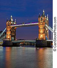 the, 塔桥梁, 在中, 伦敦