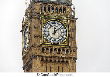 the, 大本鐘, 議會的房子, 倫敦, 英國