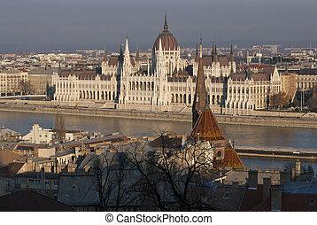 the, 建築物, ......的, the, 議會, 布達佩斯
