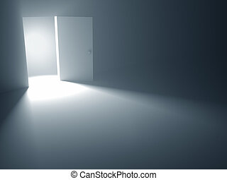 the, 打開門, 到, 自由