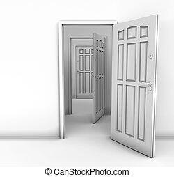 the, 打開門