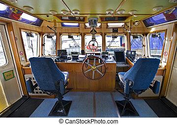 the, 操舵室, ......的, a, 火船