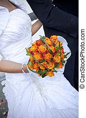 the, 新娘, 由于, a, 婚禮花束