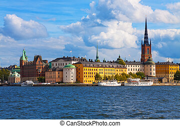 the, 老 鎮, 在, 斯德哥爾摩