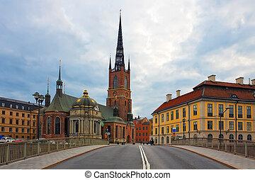 the, 老 鎮, 在, 斯德哥爾摩, 瑞典