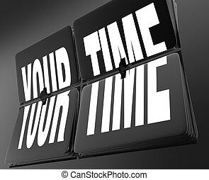 the, 詞, 你, 時間, 上, a, 葡萄酒, retro, 鐘, 由于, 用指頭彈, 瓦片, symbolizing, 假期, 斷開時間, 或者, a, 片刻, 為, 放松, 以及, 再襲擊