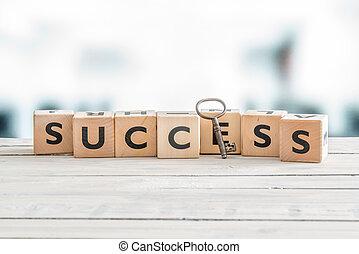 the, 詞, 成功, 由于, a, 鑰匙
